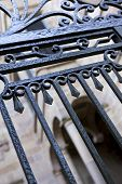 image of wrought iron  - Details of an old wrought iron gate in France - JPG