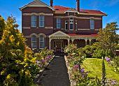 Mansion in its English Garden in Hobart Australia