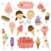 picture of gelato  - vector Ice Cream - JPG