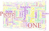 Word Cloud Based On Tolstoy's War And Peace