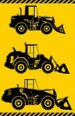 foto of wheel loader  - Detailed illustration of wheel loaders - JPG