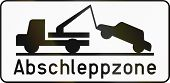 foto of towing  - Austrian traffic sign  - JPG