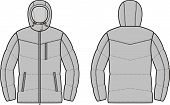image of down jacket  - Vector illustration of winter quilted down jacket - JPG