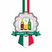pic of beer mug  - Brewed in Mexico  - JPG