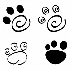 stock photo of dog tracks  - Collection of artistic dog  - JPG