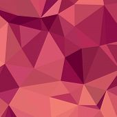 Постер, плакат: Deep Cerise Purple Abstract Low Polygon Background