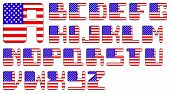 USA flag alphabet