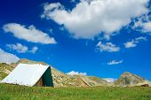Tent Camp At National Park Pirin