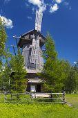 Wooden Wind Mill  In Malye Karely
