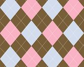 Brown Pink Blue Argyle Background