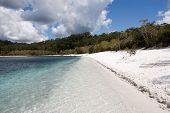 foto of mckenzie  - Lake McKenzie is a popular attraction in Queensland with crystal clear water and amazing sand - JPG
