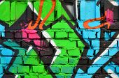 Detailed Image Of Color Graffiti Drawing. Background Street Art Picture. Part Of The Colorful Master poster