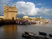 Gateway Of India, Mumbai (Bombay), India. Sky And Cloud
