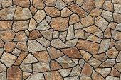 Modern stone masonry. Background texture. poster
