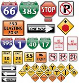 collection of road signs, vector file also available in my portfolio