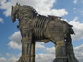 Trojan Horse in Canakkale Square,Turkey.
