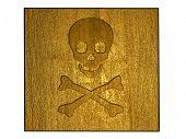 3d golden poison sign