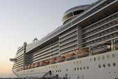 Cruise on a huge cruise ship