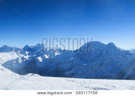 Mountain Ridge Of Caucasian Mountains