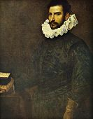 Постер, плакат: Jacopo Robusti Tintoretto Portrait of a gentleman Reproduction from illustrated Encyclopedia