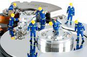 Concepto de reparación de disco duro