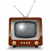 Tv retrô, ilustração vetorial.