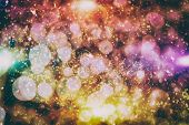 Bokeh Light Background, Christmas And New Year Holidays Background poster