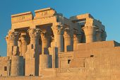 Temple Of Kom Ombo In Sunset Light (Egypt )
