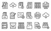 Archive Icons Set. Outline Set Of Archive Vector Icons For Web Design Isolated On White Background poster