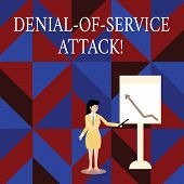Writing Note Showing Denial Of Service Attack. Business Photo Showcasing Attack Meant To Shut Down A poster