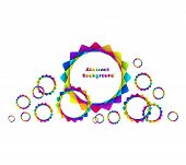 Abstract Geometric Rainbow Circles Background