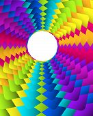 Abstract Geometric Rainbow Circle Background