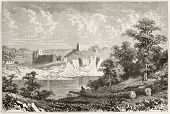 pic of chepstow  - Chepstow castle old view - JPG