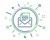 Mail Correspondence Line Icon. Read Message Sign. E-mail Symbol. Quality Design Elements. Technology poster