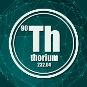 Thorium Chemical Element. Sign With Atomic Number And Atomic Weight. Chemical Element Of Periodic Ta poster