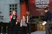 LOS ANGELES - JAN 26: Prince Jackson, Blanket Jackson, Paris Jackson at the Michael Jackson Immortal