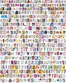 Alphabet With 516 Letters, Numbers, Symbols