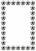 Soccer ball or football frame