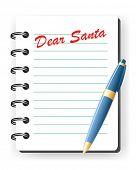 dear santa vector letter