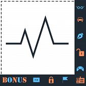 Heart Beat Cardiogram. Perfect Icon With Bonus Simple Icons poster