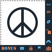 Hippie Peace. Perfect Icon With Bonus Simple Icons poster