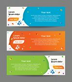 Horizontal Banners With Background Speech Bubble. Professional Web Banners Template poster