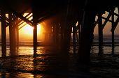 Pier Sun Burst