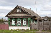 picture of uglich  - Old wooden country house with carved windows Russia - JPG