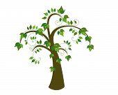Vector Cartoon Tree