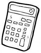 calculator cartoon (raster version)