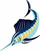 image of sailfish  - Vector art of a sailfish isolated on white background - JPG