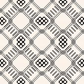 Vector Geometric Traditional Folk Ornament. Abstract Seamless Pattern. Tribal Ethnic Motif. Simple O poster