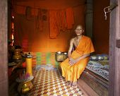 Monk at home in Cambodia