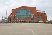 The Front Entrance To Lucas Oil Stadium In Indianapolis, Indiana